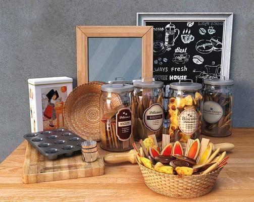 饼干, 相框, 木板, 罐子, 欧式