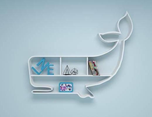 装饰架, 置物架, 现代, 书架, 陈设品, 摆件
