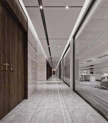 现代, 走廊, 过道
