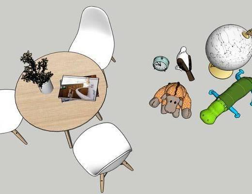 餐桌, 桌椅组合, 玩具