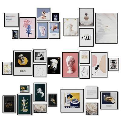 照片墙, 装饰画, 挂画, 组合画, 北欧