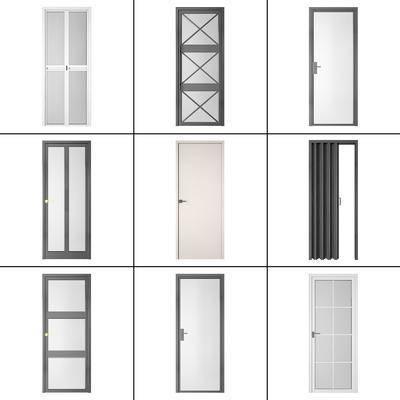 推拉門, 折疊門, 平開門, 門組合, 現代