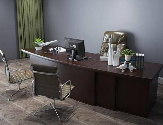 现代办公桌, 桌椅组合, 办公桌