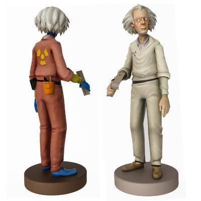 爱因斯坦, 布朗博士, 手办