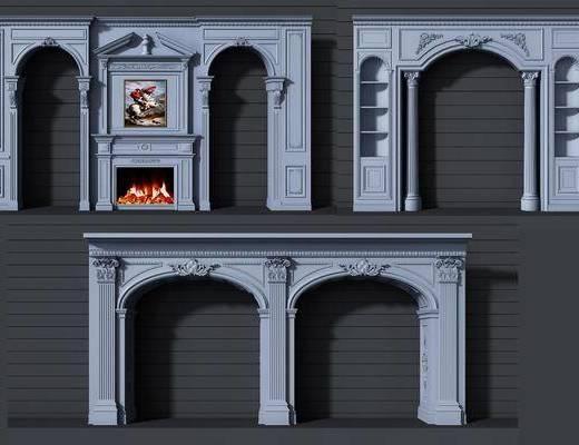 门拱, 门套组合, 装饰画, 挂画, 欧式