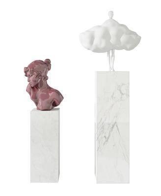 现代人物雕塑摆件