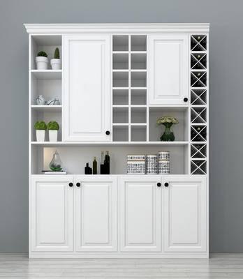 酒柜, 现代酒柜, 餐厅酒柜, 实木酒柜, 白色酒柜, 整体酒柜, 装饰酒柜