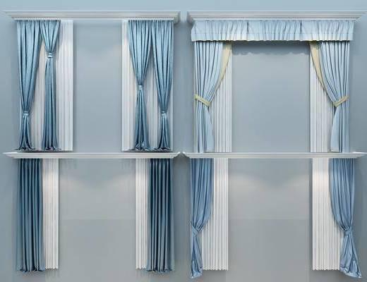 欧式窗帘, 窗帘, 布帘