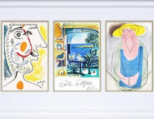装饰画, 抽象画, 现代装饰画, 现代抽象画, 现代