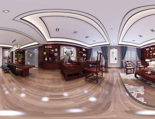 办公室, 工装, 中式
