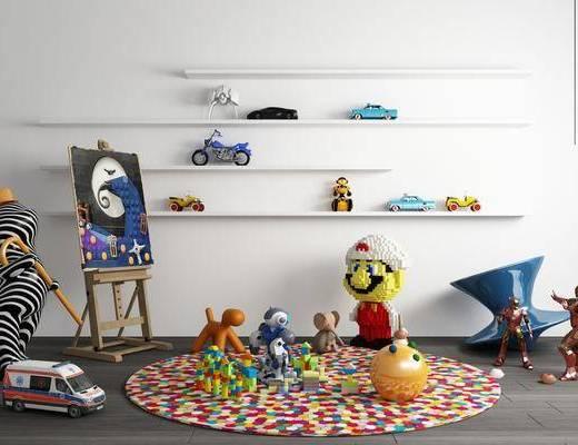 現代, 玩具, 組合