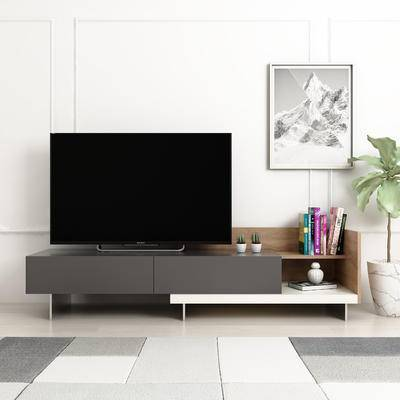 电视柜, 陈设品, 摆件, 装饰画, 盆栽
