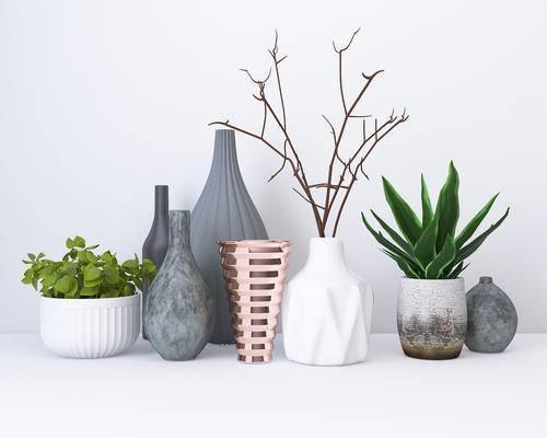 陈设品, 摆件, 盆栽, 花瓶
