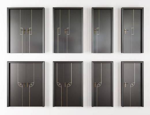 烤漆房门, 平开门, 复合门, 子母门, 双开门, 现代