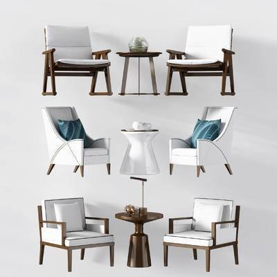 新中式, 桌椅组合, 摆件
