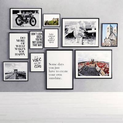 挂画组合, 照片墙, 现代