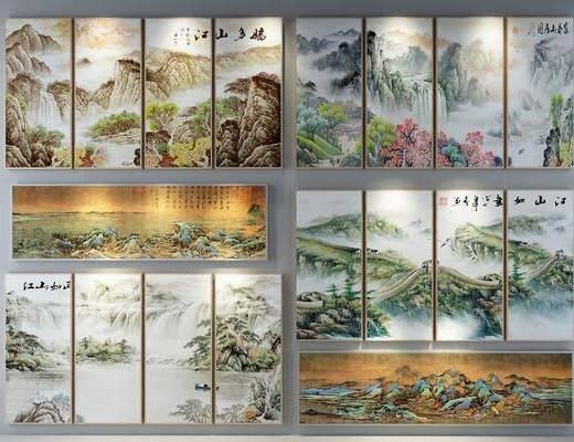 装饰画, 挂画, 风景画, 新中式