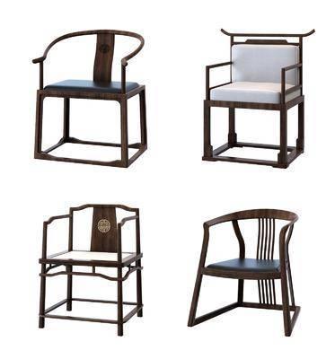 新中式单椅, 单椅