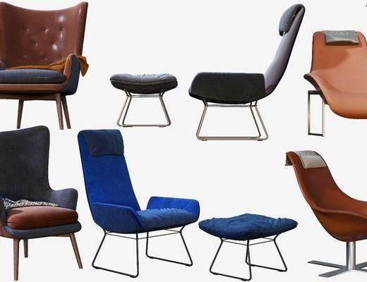 现代椅子, 椅子, 单椅, 休闲椅