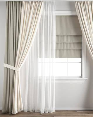 现代窗帘窗纱