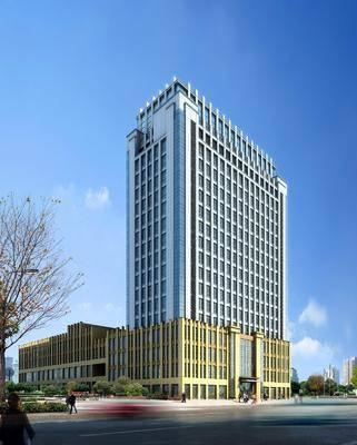 商业楼盘, 办公楼, 现代, 建筑, 外观