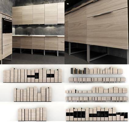 现代, 橱柜, 橱柜组合, 柜架组合, 柜架, 置物架, 置物柜
