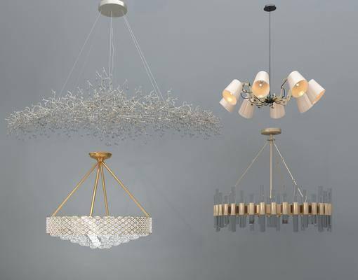 吊灯, 灯, 现代, 后现代, 金属吊灯