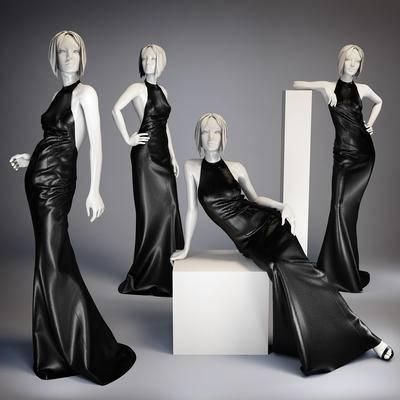 服装, 衣服, 女装, 模特, 现代