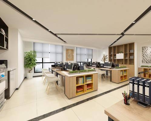 现代办公室, 办公桌, 单椅, 餐桌