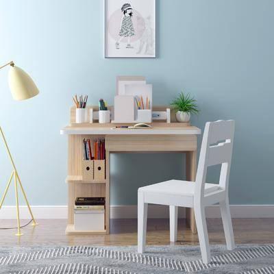現代, 書桌, 椅子, 落地燈