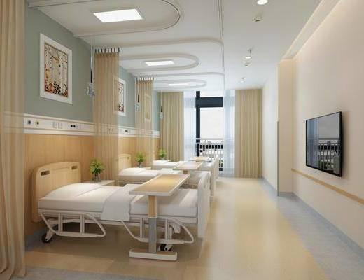 现代, 医院, 病房