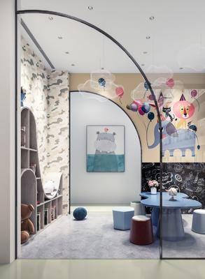 现代儿童课室, 娱乐室, 桌子