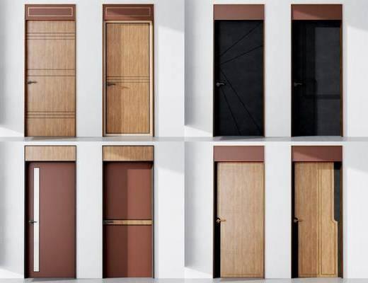 现代门, 平开门, 木门, 简约门