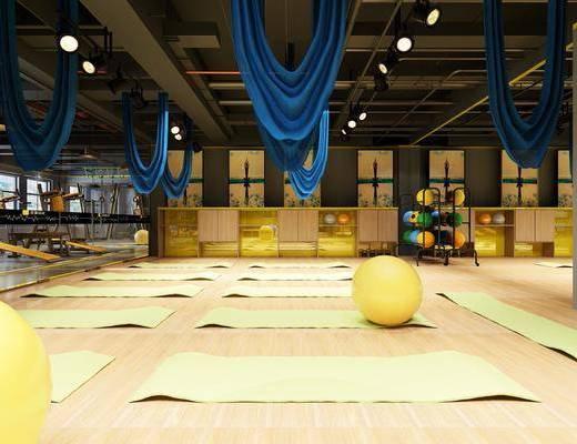 瑜伽垫, 健身器械, 健身房