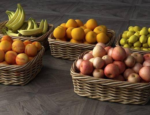水果篮子, 水果组合, 现代
