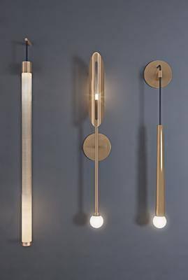 壁灯组合, 金属壁灯, 现代