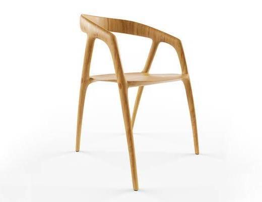 北欧简约, 实木椅子, 北欧椅, 椅子