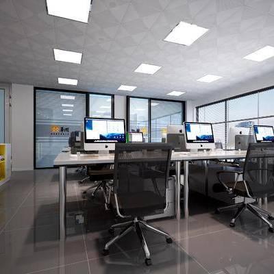 现代办公室, 办公大厅, 办公桌, 会议室, 现代, 办公用品, 办公区