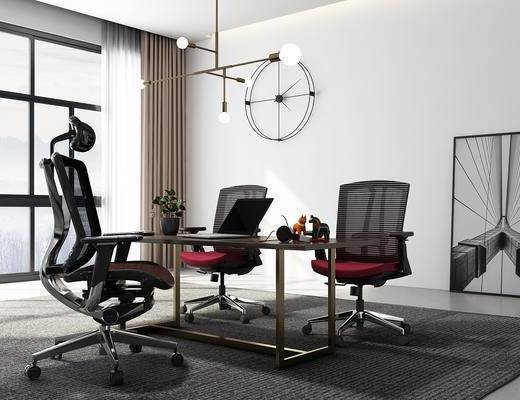 桌椅组合, 墙饰, 吊灯