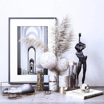 花艺, 摆件组合, 装饰品, 花瓶, 植物