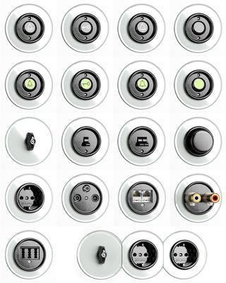 开关, 插座, 现代, 插座面板, 开关面板