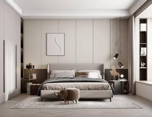 现代卧室, 主人房
