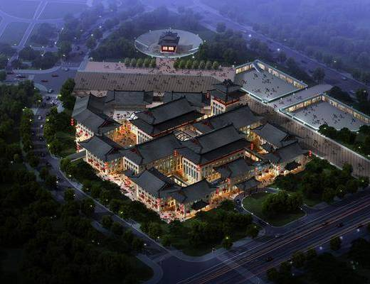 中式园林建筑, 古建, 园林, 鸟瞰