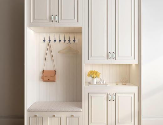 衣柜, 鞋柜, 衣帽柜, 木柜, 美式