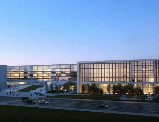 大厦建筑, 办公大楼, 现代
