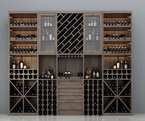 酒柜, 酒瓶, 装饰柜, 现代