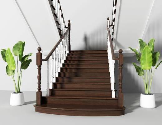 楼梯, 美式楼梯