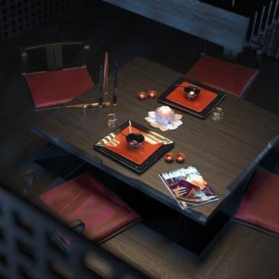 桌椅组合, 现代桌椅组合, 单椅