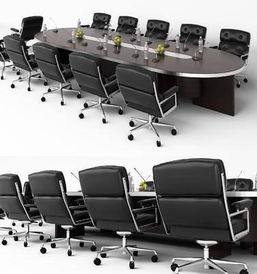 会议桌, 现代, 椅子, 办公椅