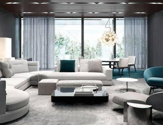 现代, 娱乐室, 家装